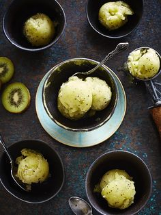 Try this easy-breezy recipe for a cool kiwi sorbet that will transport you to a fancy yacht party, best served with a little bit of champagne or cava