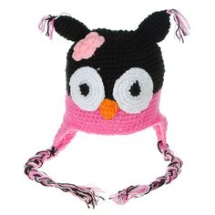 Baby girl hat#Cute#Cheap#Child Baby Boy Girl Owls Animal Crochet Knit Cap Ear Hat Toddler 6-18 Month