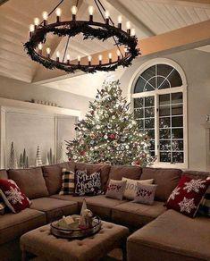 Christmas Time Is Here, Merry Little Christmas, Noel Christmas, White Christmas, Large Christmas Tree, Christmas Cards, Farmhouse Christmas Decor, Country Christmas, Farmhouse Decor
