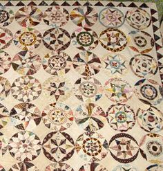 "When I see a quilt like this, all I think is, ""Show off!"" Spectacular! [1803 from Victoria & Albert Museum]"