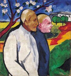 Natalia Goncharova Portrait of Larionov  1911