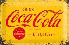 Nieuw Binnen Coca Cola Refresh Your Guests gebold reliëf metalen wandplaat    metalen borden/metal signs formaat : 30 cm x 20 cm voorzien van 4 bevestiging gaatjes Bijzonder mooi bord van een uitstekende zware kwaliteit met een prachtig voelbaar reliëf ! Een mooi geschenk voor uzelf of om cadeau te geven ....