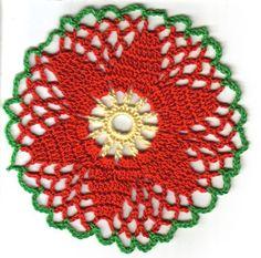 ~ Whizbang Crochet ~: Poinsettia Coaster