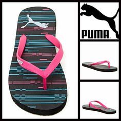 Puma Thin Flip Flops Flat Sandals Puma Thin Flip Flops Flat Sandals NEW WITH TAGS   * Thong toe strap.  * Printed logo footbed.  * Rubber 'jelly' flexible straps & cushioned soles   * Water resistant.   * Open toe & slip on style.  * True to size Material: Rubber upper & EVA flat sole.  Color: Black Combo Item:   No Trades ✅ Offers Considered*✅ *Please use the blue 'offer' button to submit an offer. Puma Shoes Sandals