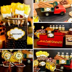construction birthday party | Construction Birthday Party Package - DIY - Forever Your Prints