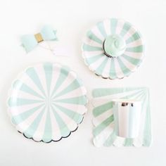 Scallopy Stripes Collection: (Mint)   shop sweet lulu