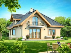 These four room attic house plans make a perfect choice for a classic family with as many members.