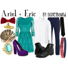 Fabulous Polyvore page with outfits inspired by Disney characters. Ariel and Eric is just one of my favorites. There are SO many!