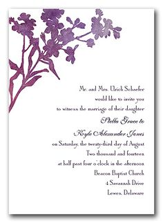 invitation #wedding invitation  idk what kind of paper she has! :) just an idea.