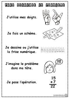 Résolution de problèmes - Dix mois Cycle 2, French Immersion, Brain Teasers, Grade 1, Math Activities, Language, Math Equations, Learning, School