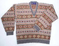 Allover Shetland patterned jumper