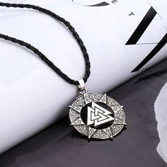 Men/'s VIKINGS VIKING RAVEN Rune Or Argent Amulette Slave Collier Pendentif Bijoux