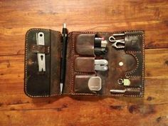 Lucky Leathers EDC Wallet Small - mxs Chocolate