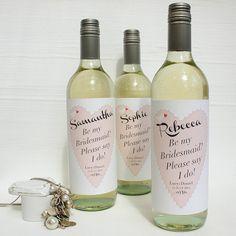 Personalised Bridemaid Wine Labels