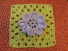 My Crochet , Mis Tejidos: Granny with Flower for THE SIBOL GROUP ,SUNNIEST INTERNATIONAL BLANKET OF LOVE .