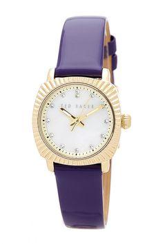 Women's Mini Jewels Patent Leather Strap Watch