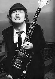 """Angus Young - co-funder, lead guitarrist and songwritter of """"AC/DC"""""""
