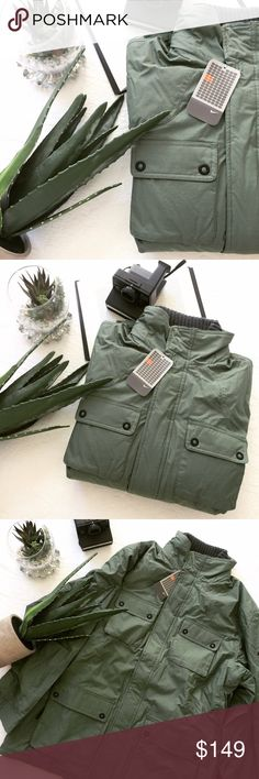 $295 NIKE ARMY GREEN JACKET This jacket has it all! Style, warmth, places to put everything! It's brand new with tags attached 💕 Sold out everywhere! Makes an amazing gift! Nike Jackets & Coats