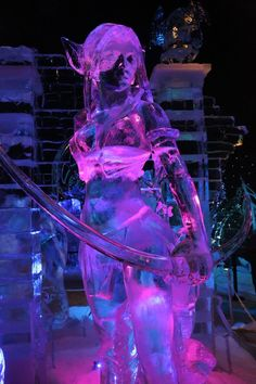 Snow & Ice Sculpture Festival in Bruges, Belgium on Dec. 5