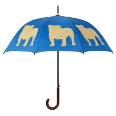 The San Francisco Umbrella Company Walking Stick Rain Umbrella, English Bulldog Egyptian Blue and Light Brown - http://www.thepuppy.org/the-san-francisco-umbrella-company-walking-stick-rain-umbrella-english-bulldog-egyptian-blue-and-light-brown/