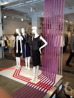 Trendy Ideas For Clothes Store Facade Visual Merchandising Visual Merchandising Displays, Visual Display, Display Design, Store Design, Booth Design, Boutique Interior, Tape Window, Store Window Displays, Tents