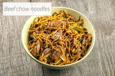 Get a taste of beef chow noodles with real wok flavors. Ready in 20 minutes with 45 minutes waiting, recipe for two.