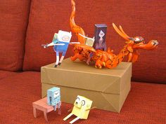 Cartoon Network Papercrafts by Fred Seibert, via Flickr
