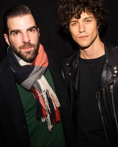 """""""Miles McMillan and Zachary Quinto at Equinox's opening of Bond St. with Club Zero. """""""