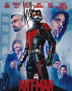 Ant-Man In-person autographed Cast Photo by Paul Rudd Michael Douglas and Stan Lee @ niftywarehouse.com