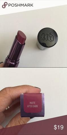 Urban Decay Revolution Lipstick Color is Matte After Dark. New in box Urban Decay Makeup Lipstick