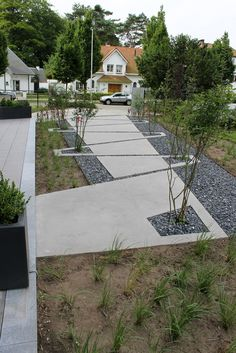 Garden eye-clinic in Schoten (Belgium). By Vertus Landscape Architects. Sidewalk possibilities, paver, walkway, concrete, landscape architecture