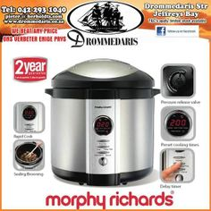 Buy Morphy Richards Slow & Multi Cookers in Cyprus - 6 Litre capacity - feeds people; - Digital programmer with 5 preset cooking times; Domestic Appliances, Cooking Appliances, Kitchen Appliances, Digital Pressure Cooker, Electric Pressure Cooker, Kitchen Kit, First Kitchen, Pressure Cooker Recipes, Pressure Cooking