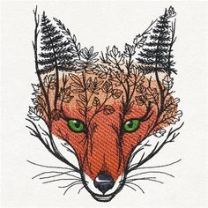 Autumn Fox - Thread List | Urban Threads: Unique and Awesome Embroidery Designs