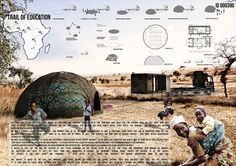 competition winners address educational needs in the Sub-Saharan Africa region Architecture Panel, Architecture Design, Sustainable Schools, Traveling Teacher, Concept Draw, Desert Homes, Inspirational Posters, Design Competitions, Layout