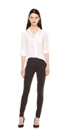Slim Silk Shirt from Joe Fresh (off white)