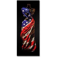 Trademark Fine Art American Dress Canvas Art by Roderick Stevens, Size: 10 x 24, Multicolor