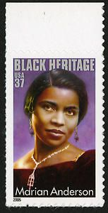 Marian Anderson was a Girl Scout! With this twenty-eighth stamp in the Black Heritage Series, the Postal Service honors Marian Anderson, one of the greatest classically trained singers of the twentieth century and an important figure in the struggle of Black Americans for racial equality. Singing a varied repertoire in her rich contralto, Anderson opened doors for other Black artists.    The portrait featured on the stamp is an oil painting by Albert Slark of Ajax, Ontario, Canada.