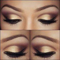 Beautiful Eye Makeup. #eyes #eyeshadow #eyeliner #beauty #makeup #cosmetics