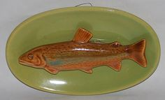 Rosemeade Pottery Brook Trout Wall Plaque
