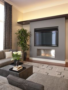 modern living room design ideas from different countries in 2020 15 – Home Design Inspirations Living Room With Fireplace, Living Room Grey, Small Living Rooms, Home Living Room, Living Room Designs, Living Room Decor, Modern Fireplace, Tv Fireplace, Fireplaces