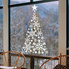 Arbol de Navidad de vinilo al acido para colocar en el cristal.