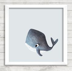 Whale giclée print illustrated by Laura Mitchell, Baby Prints, Nursery Prints, Nursery Wall Art, Watercolor Illustration, Watercolor Paintings, Original Paintings, Animal Paintings, Animal Drawings, Kids Wall Decor