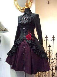 Atelier Boz über alles — New Releases: Atelier Boz - Leila Mini Skirt. Gothic Lolita Fashion, Steampunk Fashion, Victorian Fashion, Gothic Lolita Dress, Lolita Goth, Lolita Style, Dress Outfits, Dress Up, Cute Outfits