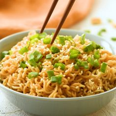 Vegetarian Recipes Discover Sesame peanut noodles Sesame peanut butter noodles can be made in under 10 minutes! The sesame peanut flavor satisfies Asian take-out food cravings. Vegetarian Recipes, Cooking Recipes, Healthy Recipes, Cooking Food Video, Vegetarian Cooking, Vegan Food, Easy Recipes, Easy Microwave Recipes, Healthy Food