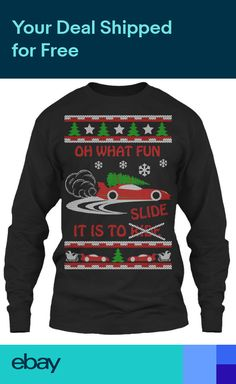 Drifting Christmas - Oh What Fun It Is To Ride Gildan Long Sleeve Tee T-Shirt