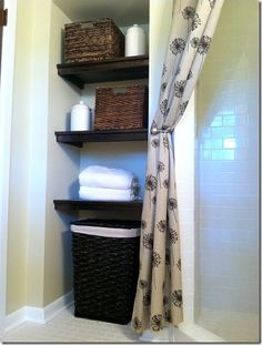 Small Bathroom Closet shelves in my master bathroom water closet | bathrooms | pinterest