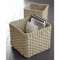Jaya Baskets in Storage Baskets, Bins | Crate and Barrel for mudroom