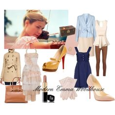 Modern Emma Woodhouse by april-daneker on Polyvore featuring Burberry, Jane Norman, Armani Collezioni, MiH Jeans, Chanel, Christian Louboutin, Louis Vuitton, Tory Burch, Hermès and modern