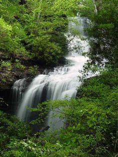Twin Falls, Pisgah National Forest, NC My favorite place to go camping & mountain bike riding Vacation List, Vacation Destinations, Dream Vacations, Vacation Spots, Camping Spots, Go Camping, Pisgah Forest, Places To Travel, Places To Visit