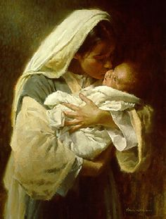 Mary...Did you know that when you kissed your babys face, you kissed the face of God?